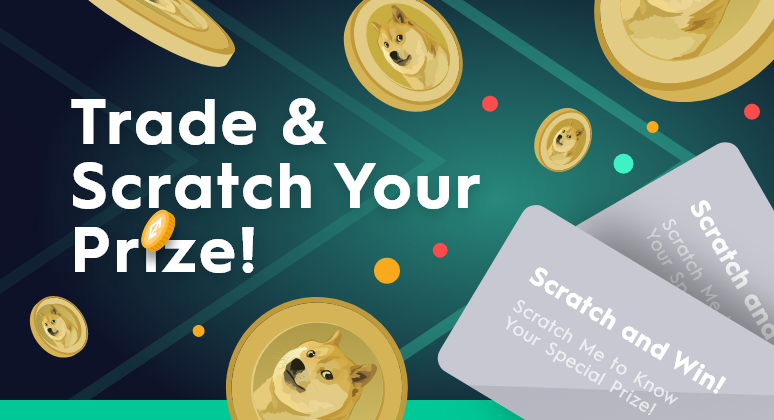 Trade DOGE and scratch your daily prize!