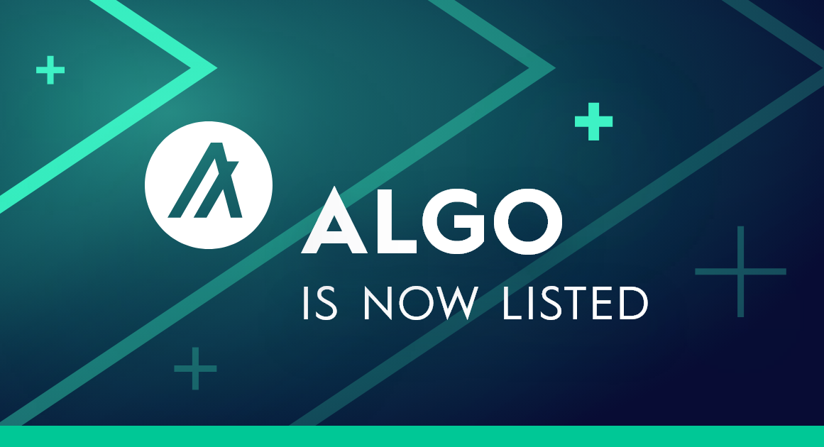 Algorand is now available for trading!